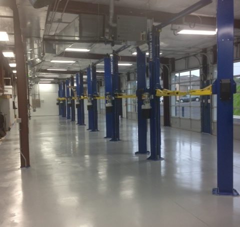 Auto Shop image - auto shop floor coatings