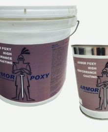 bucket and gallon can of armorpoxy high performance coating