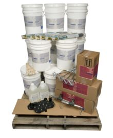 floor repair products job on pallet kit