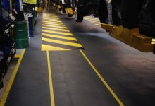 Thumbnail - supratile added to autoshop - grey with yellow warning stripes